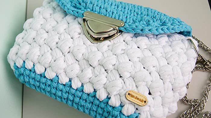 Amazoncom Blue And White Small Crossbody Bag For Women Crochet