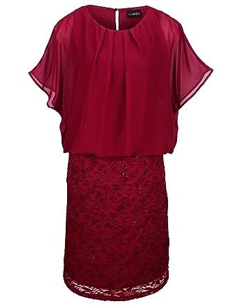 28617e209ec9 MIAMODA Damen Kleid in 2-in-1 Optik  Amazon.de  Bekleidung
