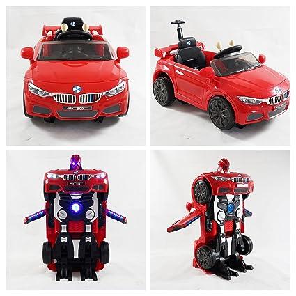 Coche de juguete para niños, modo dual, estilo BMW con transformación a robot,