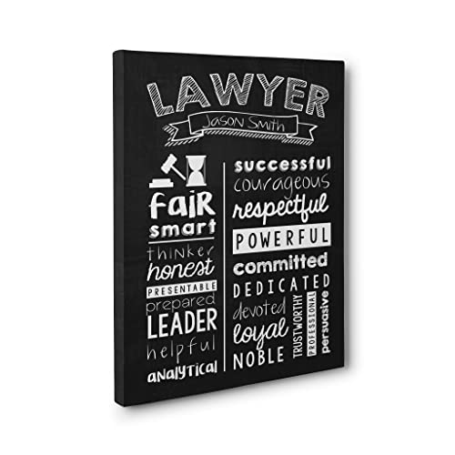 Personalized Lawyer Wall Art Canvas Gallery Wrap