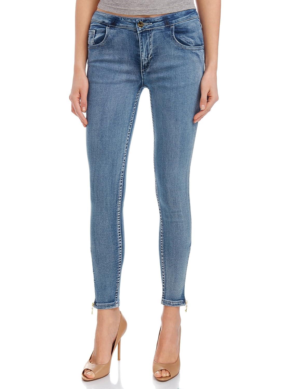 oodji Ultra Donna Jeans Slim Fit con Zip Alla Caviglia Blu RIFICZECH s.r.o. 12106050