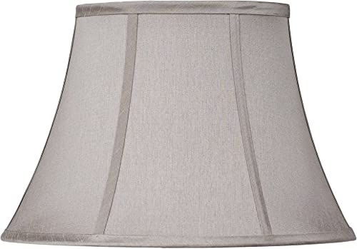 Pewter Gray Oval Lamp Shade 7 9×13 15×10.5 Spider – Brentwood