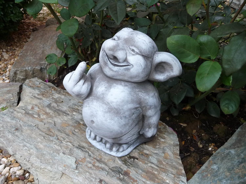 steinfigur troll gnom gartenfiguren für garten deko teich