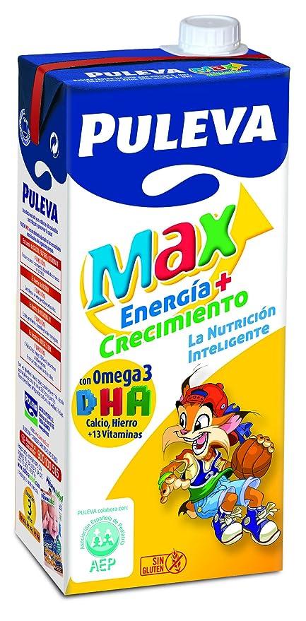 Puleva Leche Max Energía y Crecimiento - Pack de 6 x 1 l - Total: