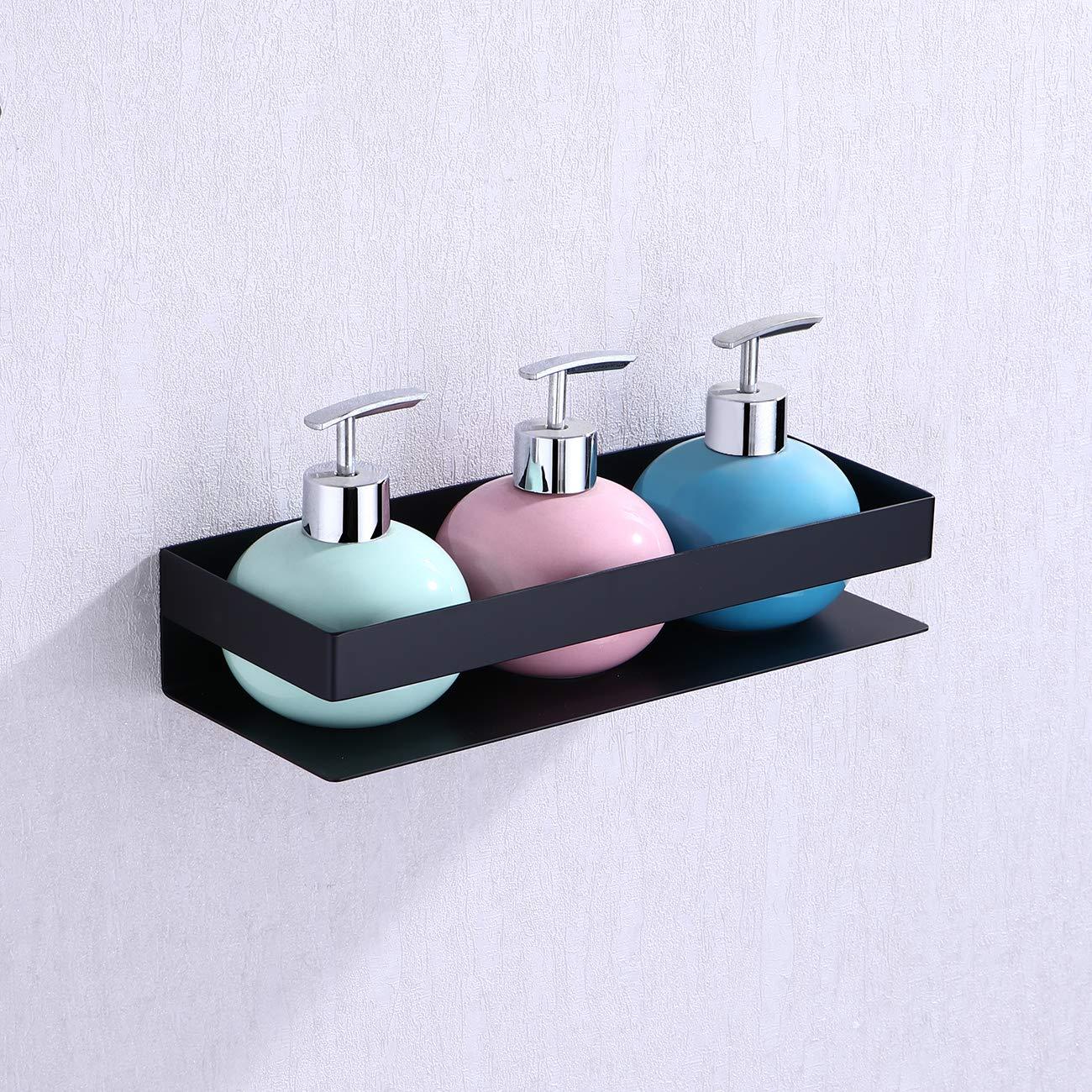 KES Bathroom Shelf Stainless Steel Bath Shower Shelf Basket Caddy RUSTPROOF Square Modern Style Wall Mounted Matte Black, BSC205S30A-BK by KES