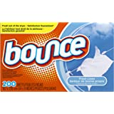 Bounce Fabric Softener Dryer Sheets, Fresh Linen, 200 Count - Packaging May Vary