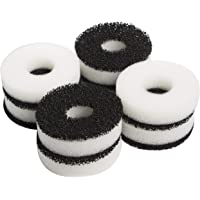 LTWHOME Compatiable Foam and Carbon Rings Fit for Biorb Filter Set/Service Kit (Pack of 16)