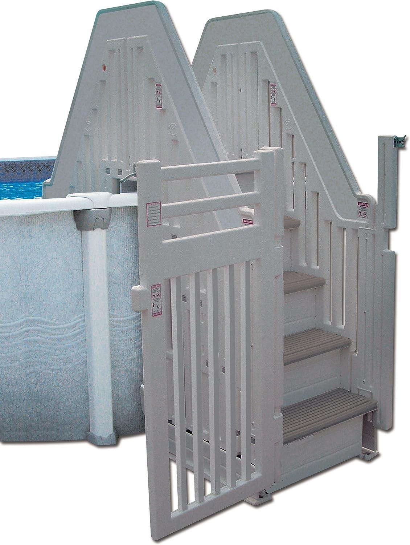 Le Confieren doble escalera piscina sobre suelo sistema de entrada con puerta: Amazon.es: Juguetes y juegos