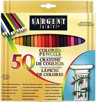 50-Count Sargent Art Premium Coloring Pencils