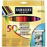 Sargent Art Premium Coloring Pencils Pack Of 50 Assorted Colors 22 7251