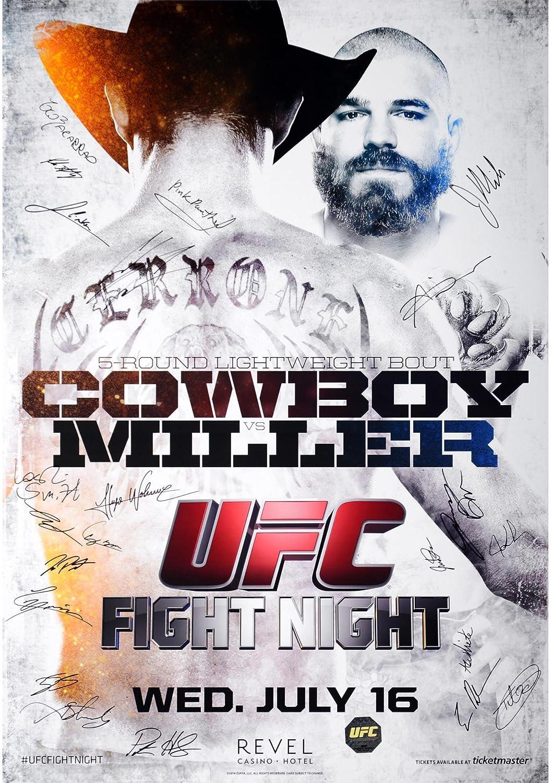 UFC Fight Night Cerrone vs. Miller Autographed 27' x 39' 22-Signature Event Poster - Fanatics Authentic Certified