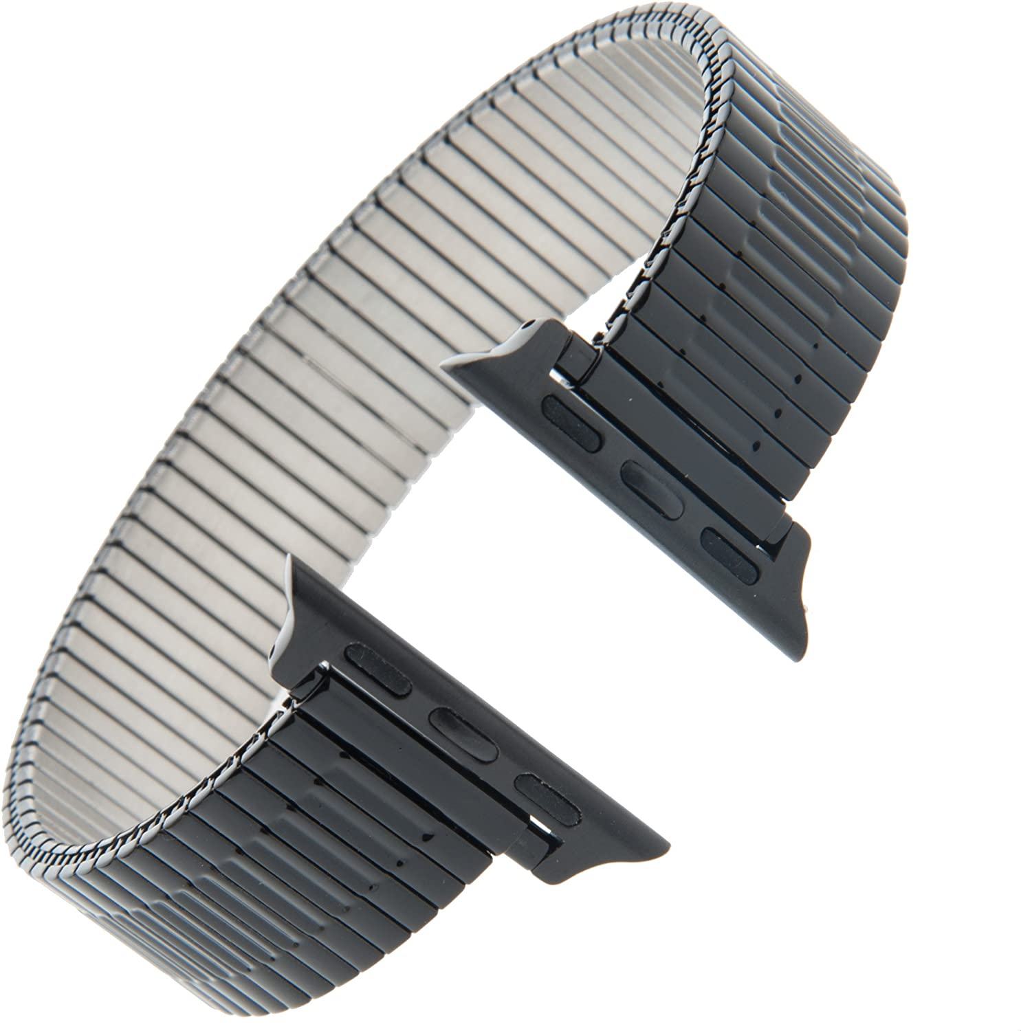 Gilden for Apple 38mm/40mm Expansion Extra-Long Black Stainless Steel Watch Band 552-BL-SMART