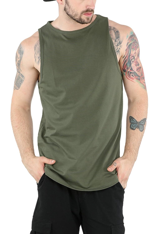 Bewakoof Men's Plain Cotton Longline Vest