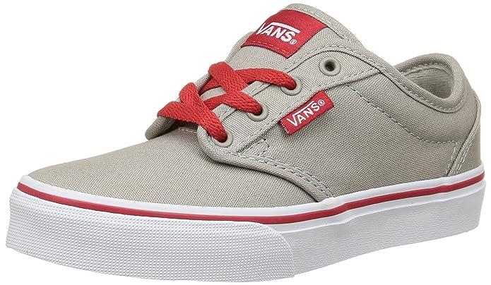 Vans Atwood Unisex-Kinder Sneakers Grau Rot