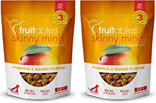 product image for Fruitables Skinny Minis Grain Free Soft Dog Treats Pumpkin & Mango Flavor (2 Pack) 5 oz Each