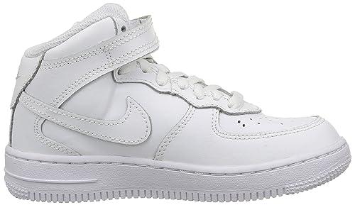 Dettagli su Scarpe Bambini Nike Air Force 1 Mid (PS) 314196 113 Bianco Sneakers Alta Nuovo