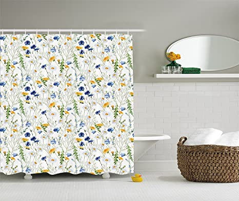 Amazon Floral Shower Curtain Roses Decor By YOUHOME Poppies