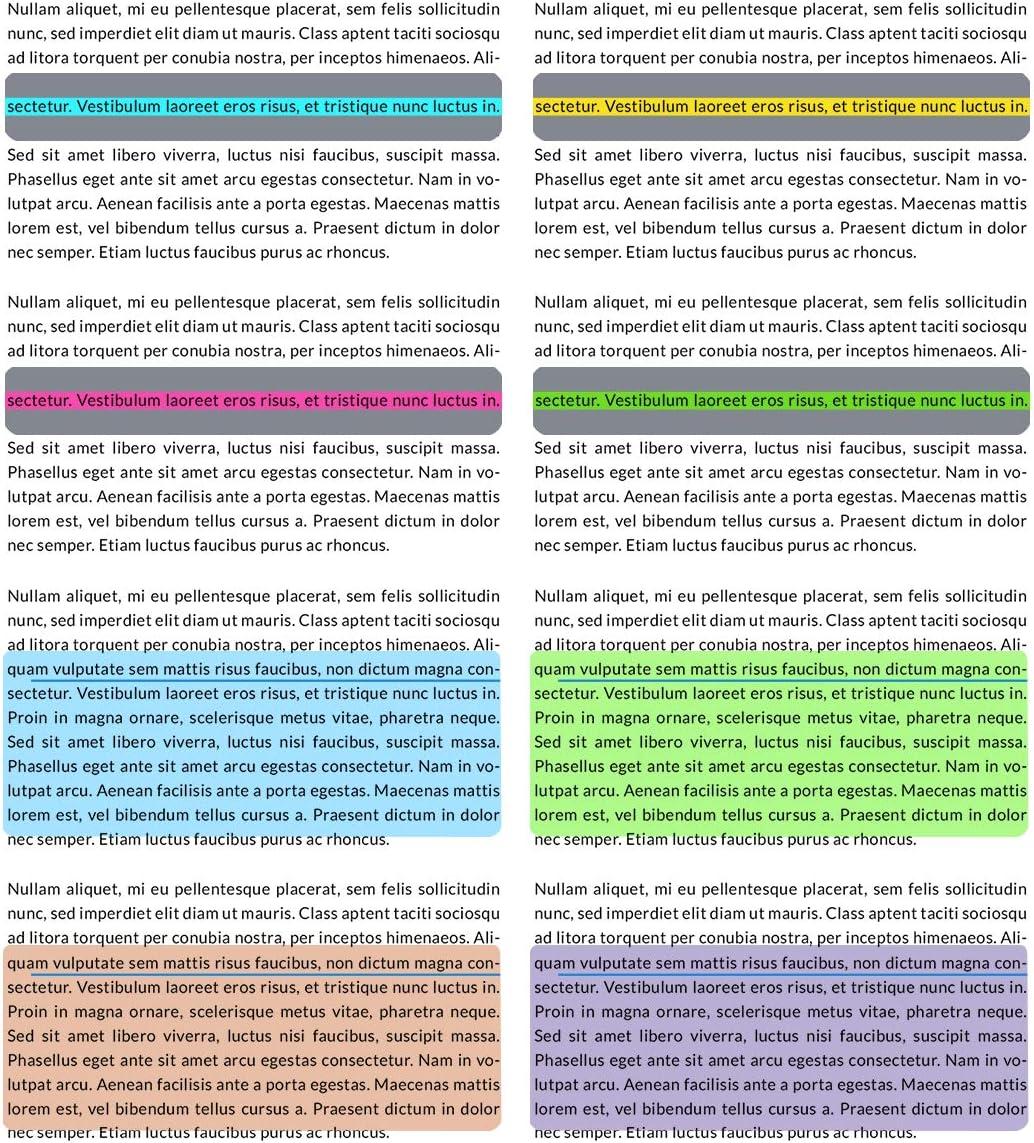 Bunt Xiangmall 16 St/ücke Gef/ührte Lesestreifen Farbigen /Überlagerung Markierungen Leselineal Legasthenie Lesezeichen f/ür Dyslexie ADHS Kinder Schule Material