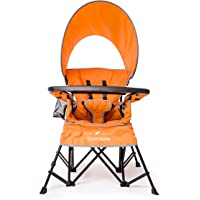 Baby Delight Go With Me Chair | Indoor/Outdoor Chair with Sun Canopy | Orange | Portable Chair converts to 3 child growth stages: Sitting, Standing and Big Kid | 3 Months to 75 lbs | Weather Resistant