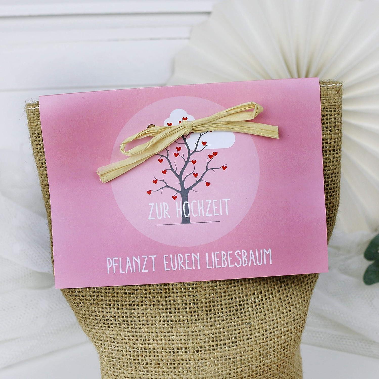 Pflanzset Baum Set Geschenkidee Zur Hochzeit Geschenk Brautpaar