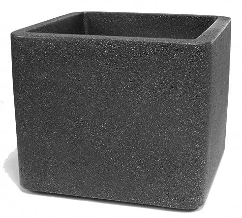 Pflanzgefäß Würfel quadratisch Pflanzkübel aus Kunststoff in ...