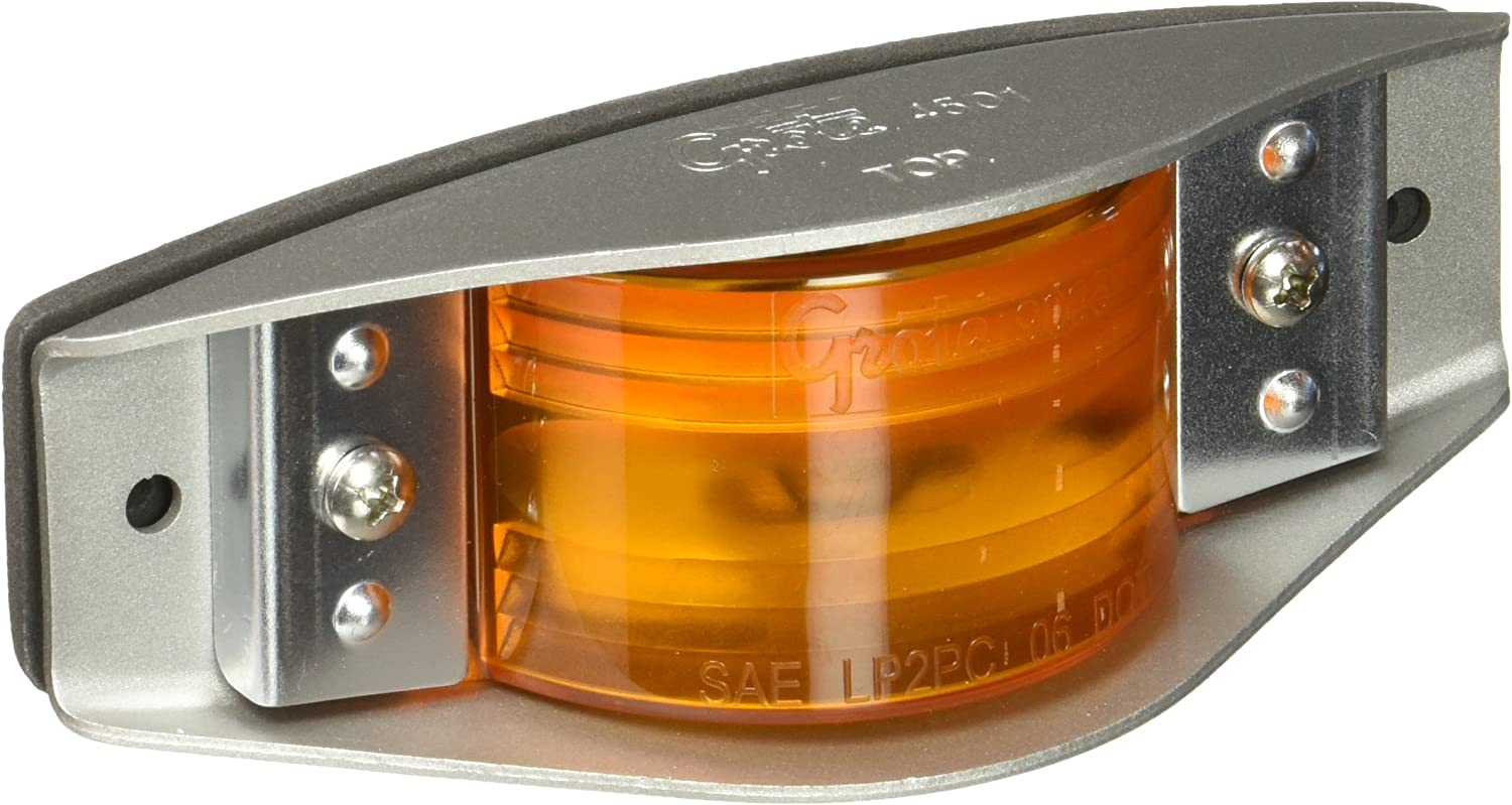 Grote 46493-5 Yellow Economy Steel-Armored Clearance Marker Light