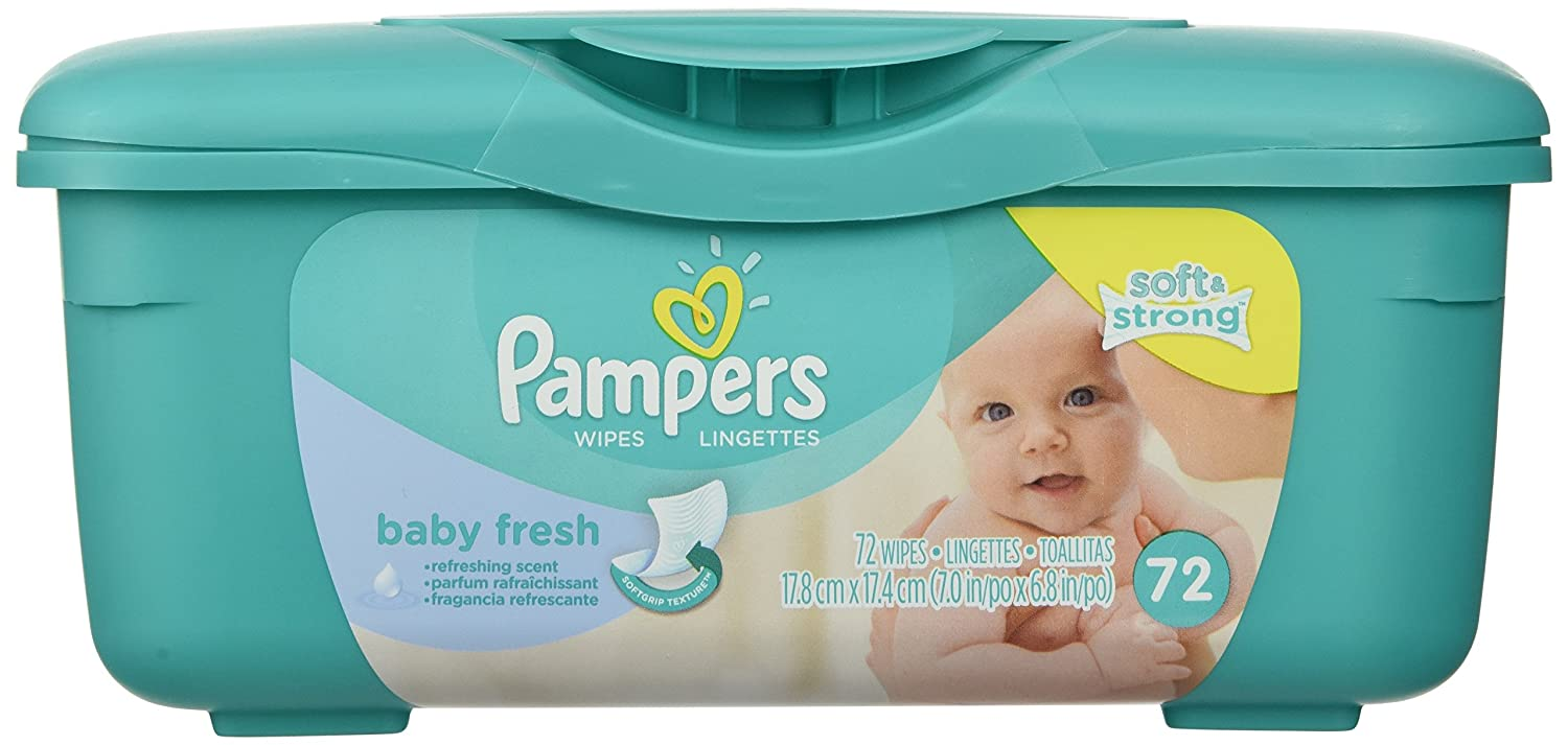 fresh wipes pampers baby fresh wipes tub 72 count 037000282488. Black Bedroom Furniture Sets. Home Design Ideas