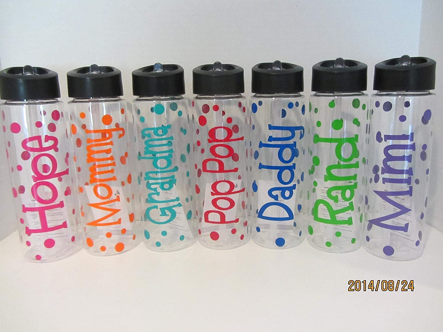 Personalized 24 ounce BPA free water bottle