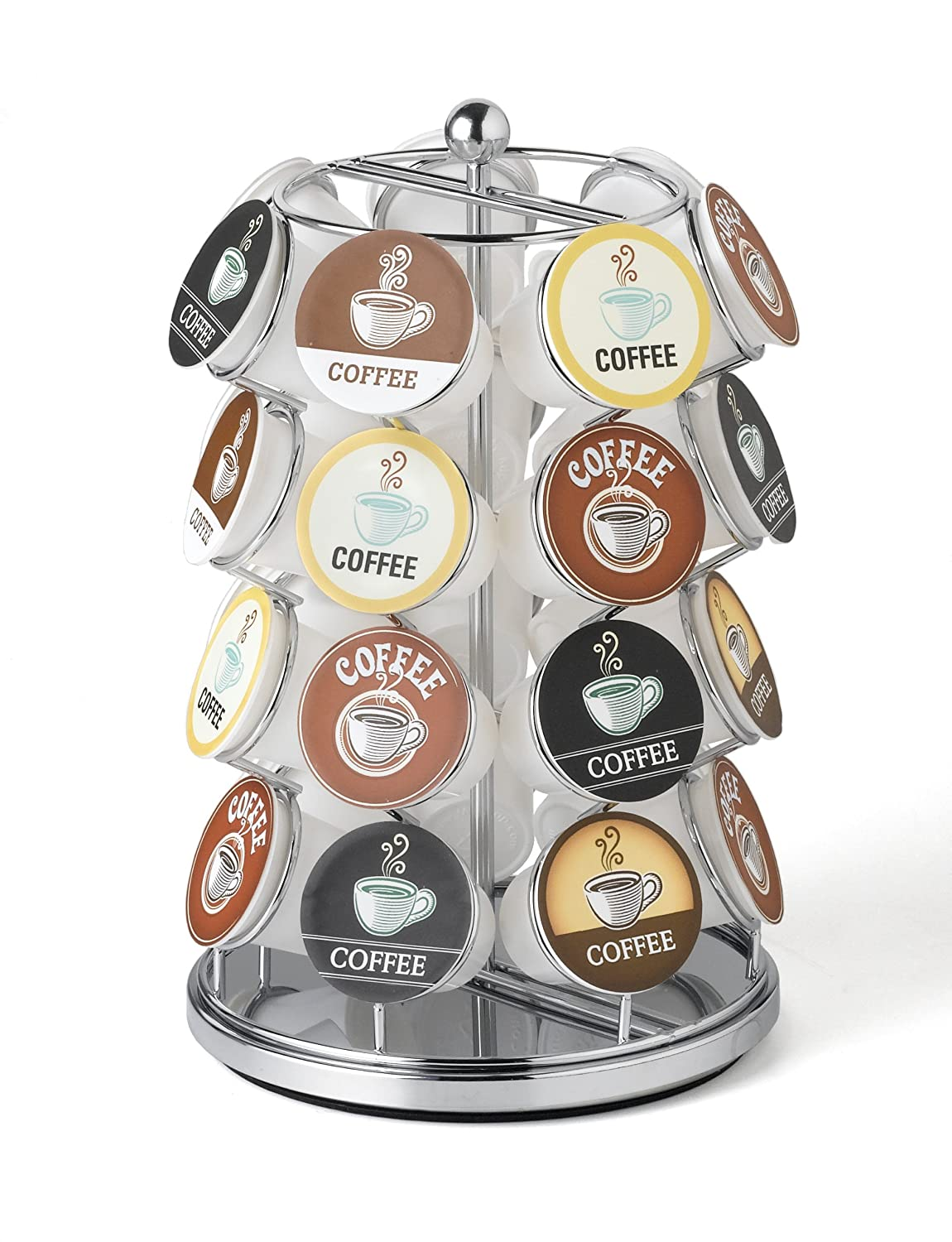 28 Capacity K-Cup Carousel (Chrome) - Nifty