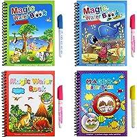 Waterschilderboeken, 4-delige magische kleurboekenset, reisactiviteiten, speelgoed voor kinderen, doorslagboek voor…