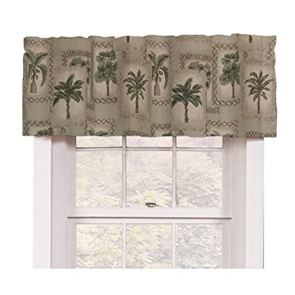 New Amazon.com: Palm Tree Tropical Valance: Home & Kitchen OB63