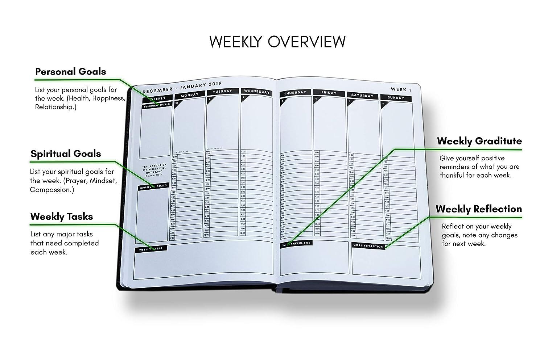 Amazon.com: Christian Daily Plananner 2019 - Agenda semanal ...