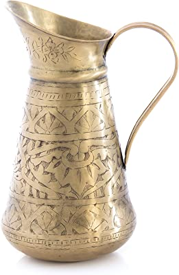 Shiraleah Home Aziz Brass Jug Vase