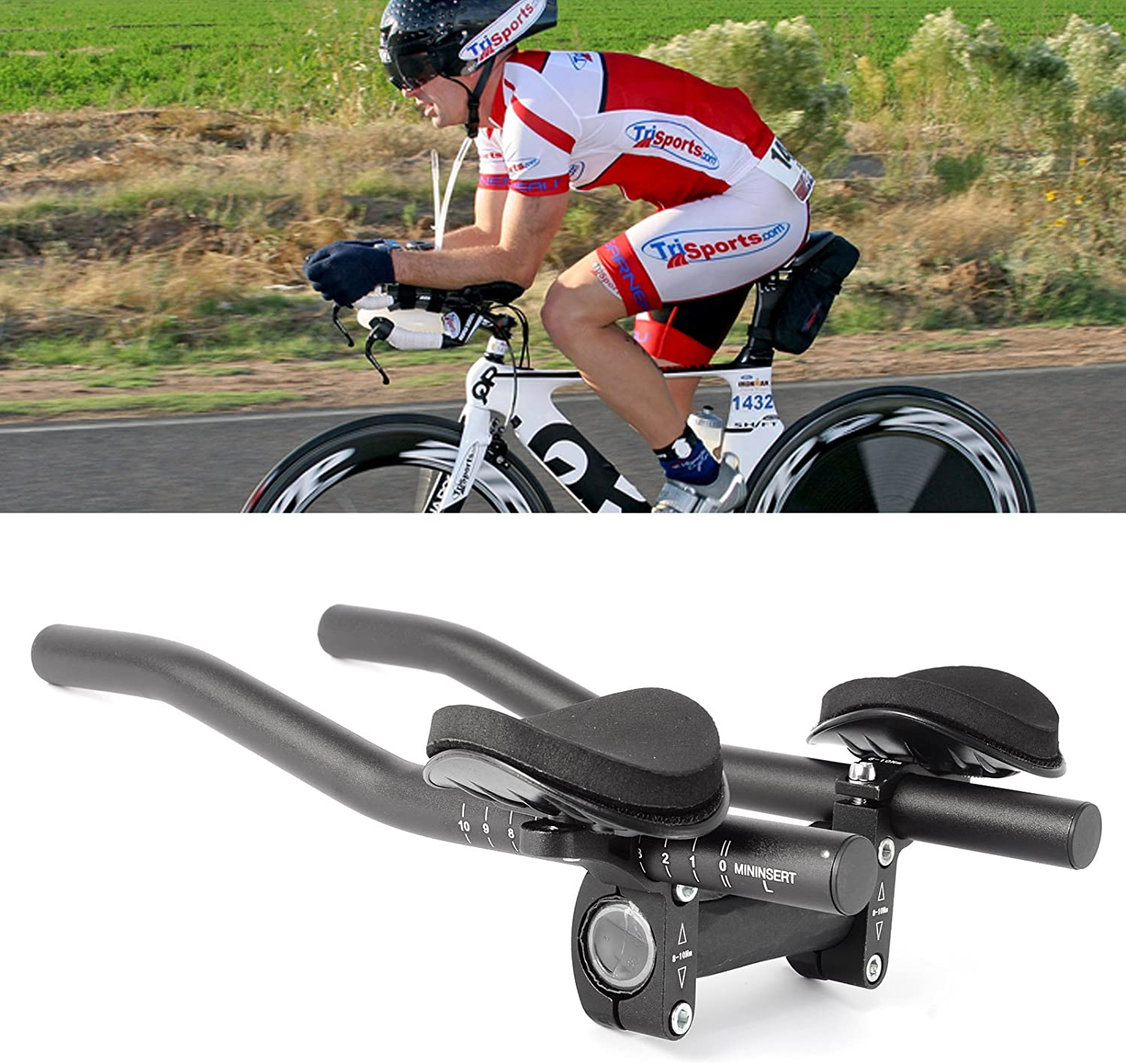 Bicycle rest Handlebar Aerobar Carbon Fiber For MTB Road Bike Racing 1 Pair