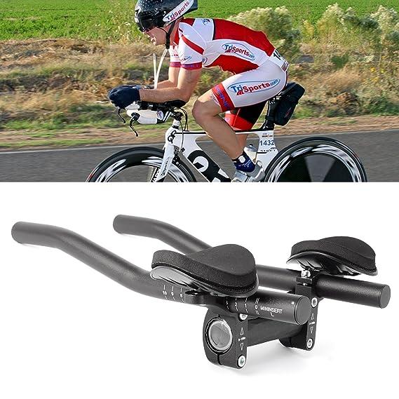 CLE DE TOUS- Manillar para Triathlon Barras de Descanso para Bicicleta de Carrera Negro Clip On Triathlon Bars (34cm de largo): Amazon.es: Deportes y aire ...