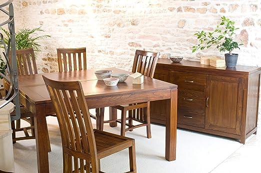 Nomades Design 501059 Mesa de Comedor Cuadrada Madera ...