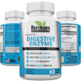 Digestive Enzyme Supplement with Prebiotics & Probiotics   GMO Free Multi Enzyme Blend   For Better Digestion, Nutrient Absorption, IBS, Bloating and Gas   All Natural   Gluten Free   60 Capsules