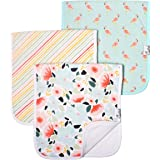 """Copper Pearl Baby Burp Cloth Large 21''x10'' Size Premium Absorbent Triple Layer 3-Pack Gift Set """"Leilani"""