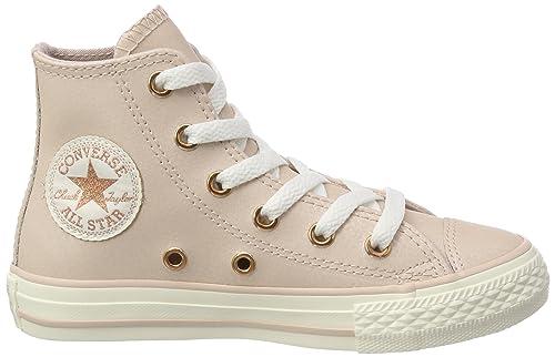 2168b5a8425489 Converse Unisex Kids  Chuck Taylor CTAS Hi Leather Fitness Shoes   Amazon.co.uk  Shoes   Bags