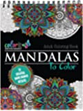 Mandala Coloring Book For Adults With Thick Artist Quality Paper, Hardback Covers, and Spiral Binding by ColorIt: 1