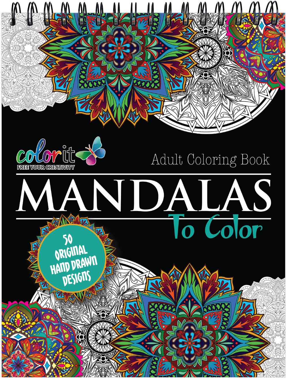 Mandala Coloring Book For Adults With Thick Artist Quality Paper Hardback Covers And Spiral Binding By ColorIt Terbit Basuki 9780996511216
