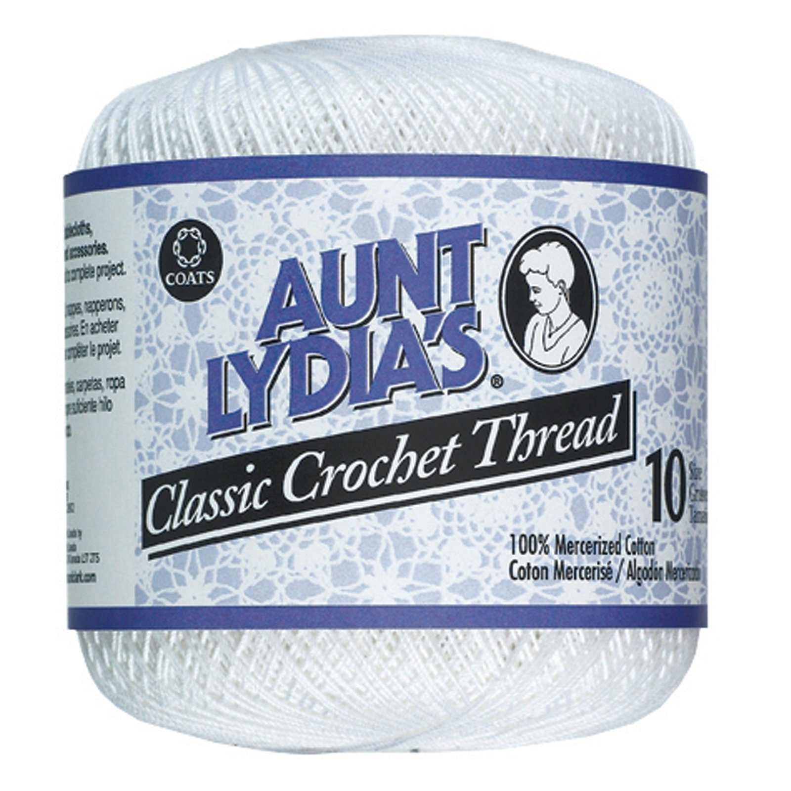 Aunt Lydia'S Classic Crochet Thread, White, 400 Yds - 3 Pkgs