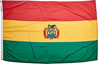 product image for Annin Flagmakers Model 190683 Bolivia Flag Nylon SolarGuard NYL-Glo, 4x6 ft, 100% Made in USA to Official United Nations Design Specifications