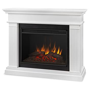 Superieur Real Flame 8070E W Kennedy Grand Electric Fireplace, Large, White