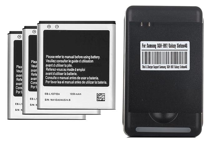 Amazon.com: 3 X 1850mAh Li-ion Baterias de repuesto + USB ...