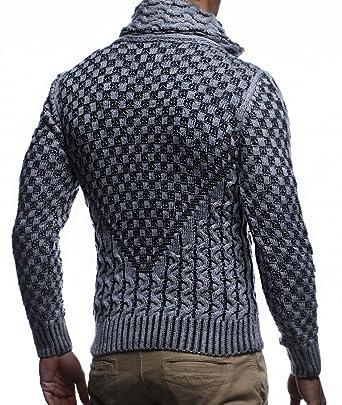 292e5831bab956 LEIF NELSON Herren Jacke Pullover Strickjacke Hoodie Sweatjacke  Freizeitjacke Winterjacke Zipper Sweatshirt LN5340;: Amazon.de: Bekleidung