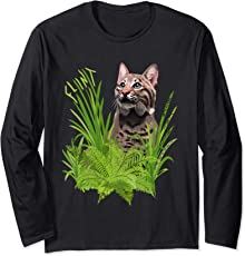 Flint the Curious Bobcat Long Sleeve T-Shirt