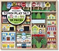 Melissa and Doug MD4796 Wooden Town Play Set (32 Pieces),1 Ea,Multi,4796
