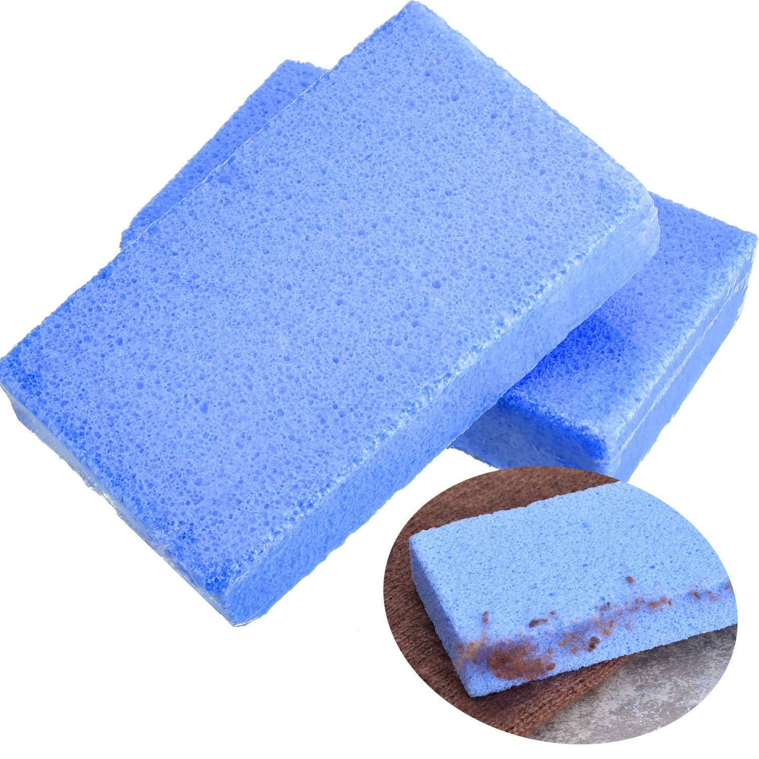 BBTO 2 Pack Sweater Stone Clothing Care Sweaters Lint Pilling Remover for Sweaters, Household Cleaning, Blue