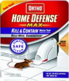 Ortho 0320110 Home Defense MAX Kill & Contain Mouse Trap, 2-Pack  (Older Model)